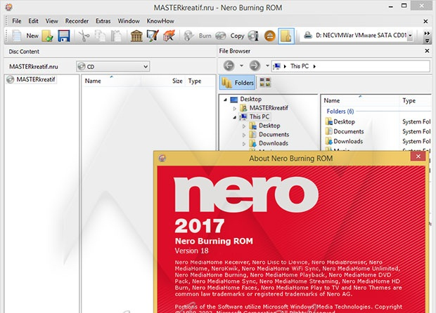 Nero Burning ROM 2017 Free Download With Product Keys