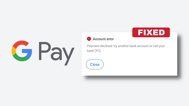 Fix payment declined error on Google Pay