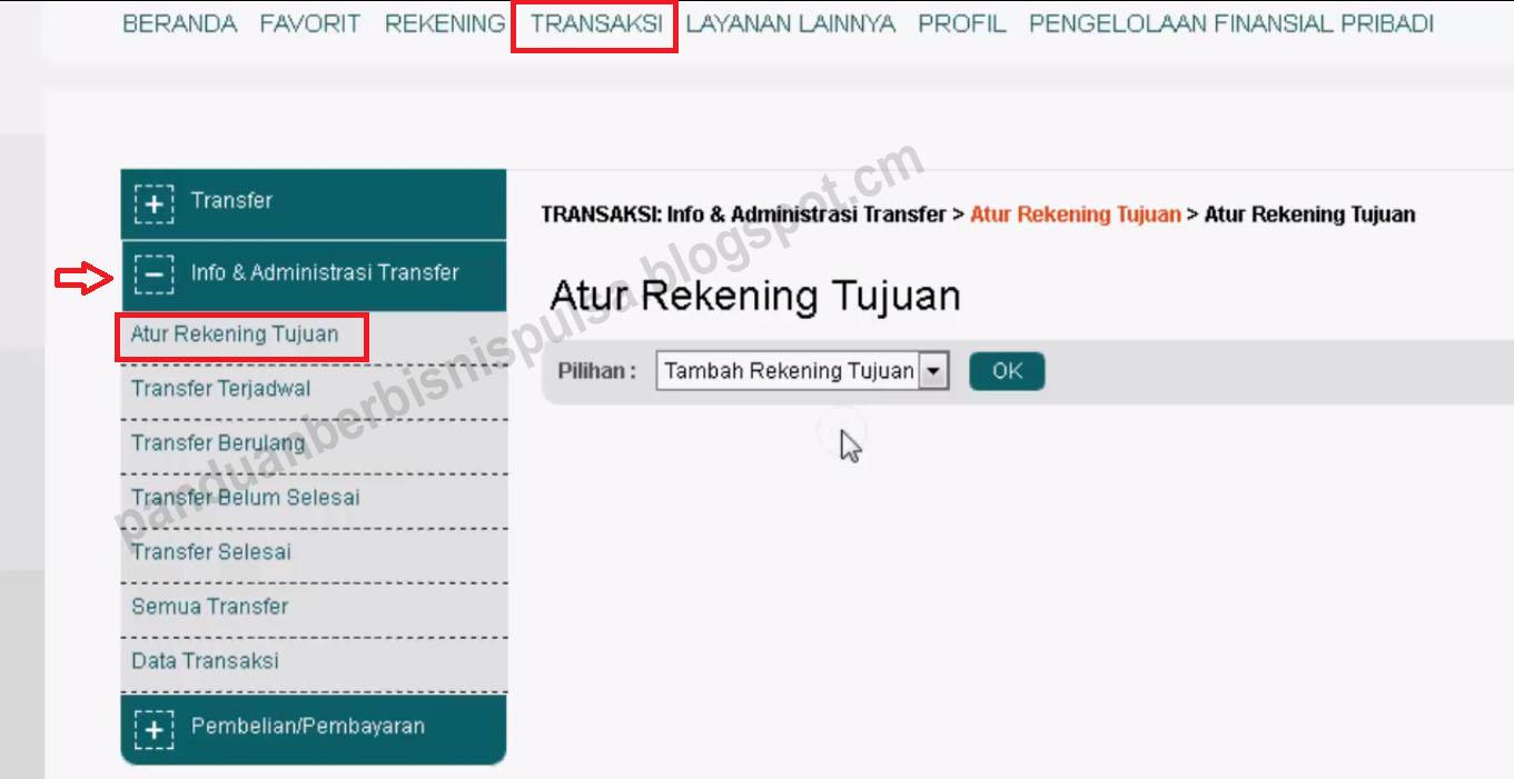 Cara Membuat Rekening Tujuan Transfer BNI Internet Banking ...