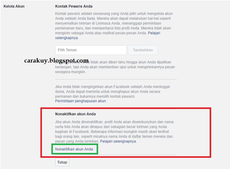 Cara Menutup Akun Facebook Sementara Atau Permanen Carakuy Cky