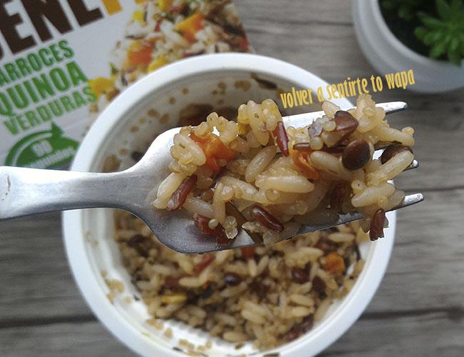 Arroz con quinoa y verduras de Brillante