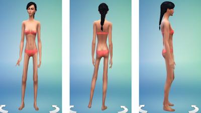 Sims 4 Underweight Female