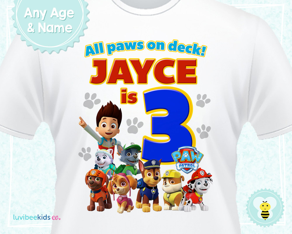 Shirt design transfer - See More Paw Patrol Designs Or Get Yours Here