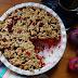 #166 Tarta gryczna z jabłkami i malinami