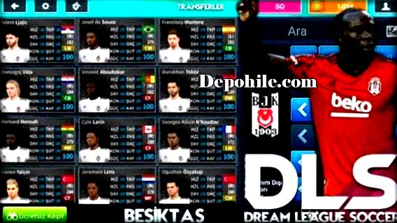 DLS 21 Beşiktaş Yaması İndir Güncel Formalar, Transfer