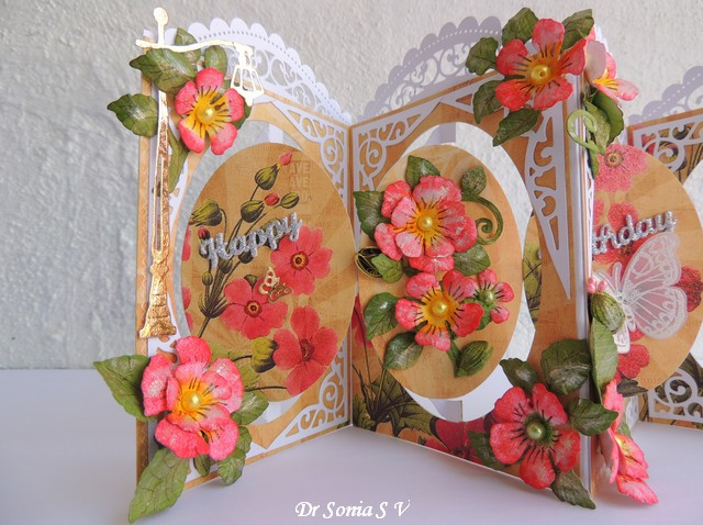 Cards crafts kids projects pop up accordion card for Pop design flower
