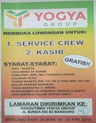 Lowongan Kerja Yogya Jl Sunda Bandung 2019 Untuk SMA SMK