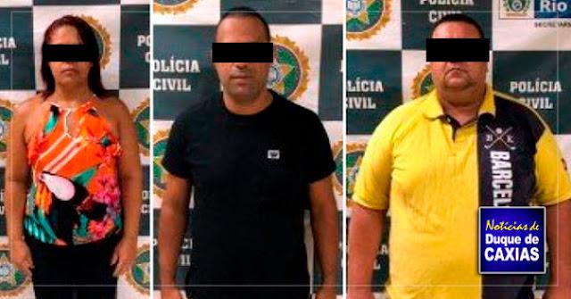 Presos presidente de associação de moradores e mais dois que atuam em milícia de em Duque de Caxias
