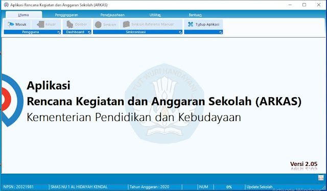 Aplikasi Rencana Kerja Sekolah (ARKAS) versi 2.5
