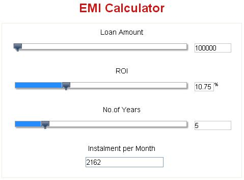 Home loan emi calculator, housing loan emi calculator india.