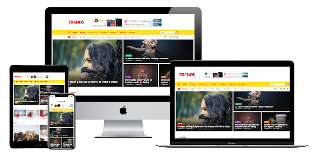 Trends - News/Magazine Responsive Premium Blogger Template [Nulled]