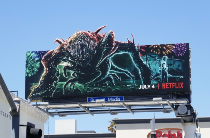 Stranger Things 3 monster cut-out billboard