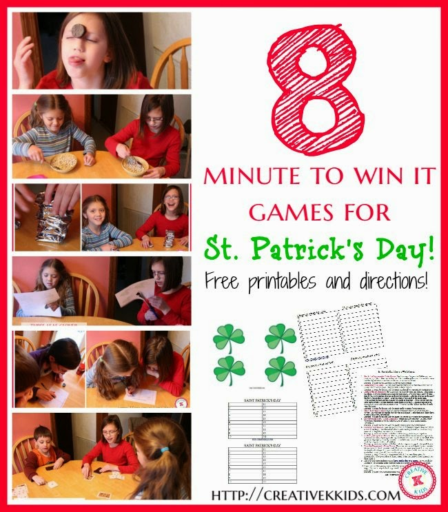 St. Patrick's Day Minute to Win It games