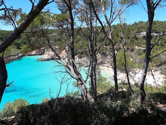 cala mitjana Menorca a golpe de objetivo