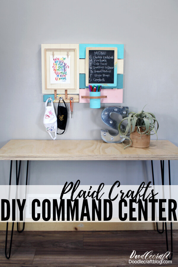 Make a DIY Command Center for Back-to-School with Plaid Online Plaid Crafts