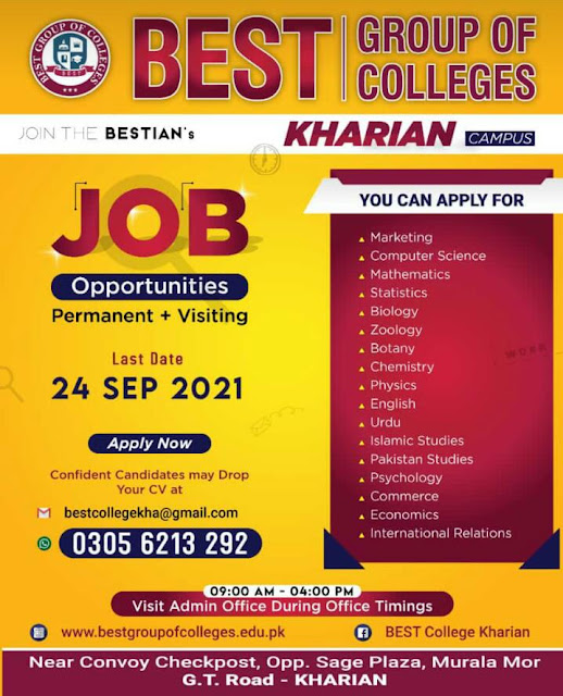 Best Group of College jobs in Kharian Campus