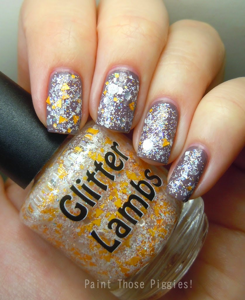 Pumpkin Cupcake Glitter Lambs Nail Polish