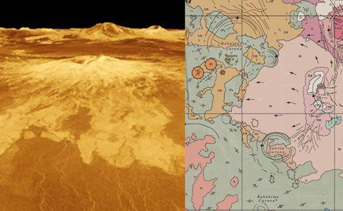 gunung berapi di venus