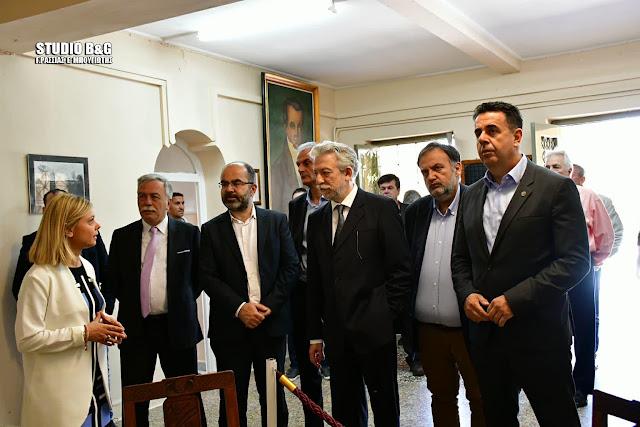 Εγκαίνια εκπαιδευτικής αίθουσας στη Δικαστική Φυλακή Ναυπλίου από τον Υπουργό Δικαιοσύνης Σταύρο Κοντονή
