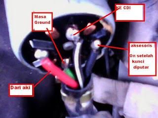 kunci motor 4 kabel