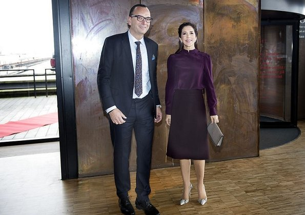Crown Princess Mary attended a reception held by TUBA at Royal Danish Playhouse. Vivancia Private. Gianvito