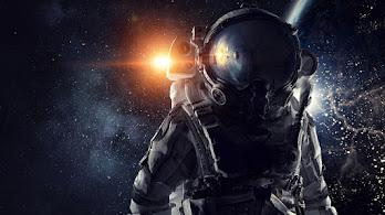 Astronaut, Outer Space, Sun, Planet, 4K, #4.28