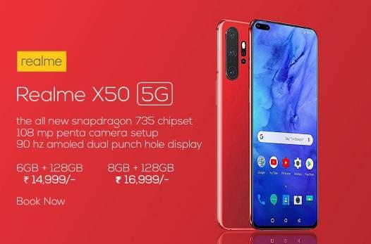 spesifikasi Realme X50 5G