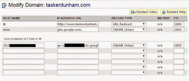 Modify domain CNAMES for Adsense