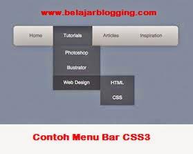 Menu Tab/Bar Navigasi CSS3