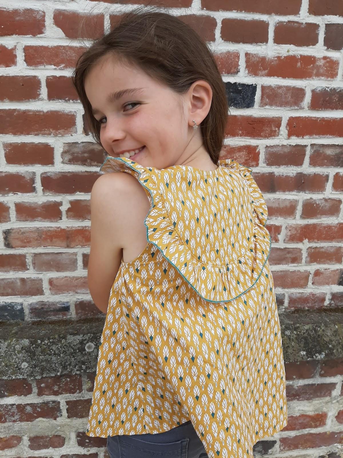 patron couture blouse fille