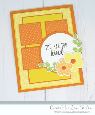 You Are Too Kind card-designed by Lori Tecler/Inking Aloud-stamps and dies from Reverse Confetti