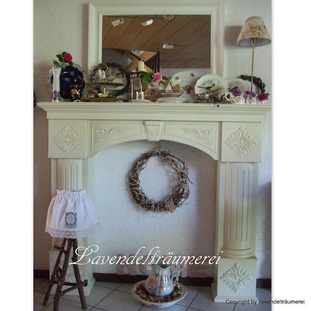 lavendeltr umerei kamin im englisch look. Black Bedroom Furniture Sets. Home Design Ideas