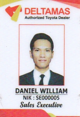 Daniel William - Sales Executive Toyota Deltamas Medan Sumatra Utara