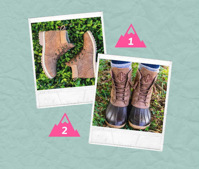 Wanderlust monogrammed shoes that will make you book your next mountain vacation
