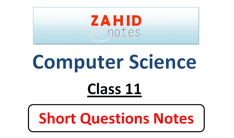 1st year computer science short questions notes pdf download