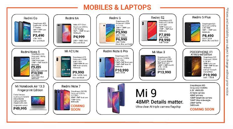 Xiaomi's newest brochure PH