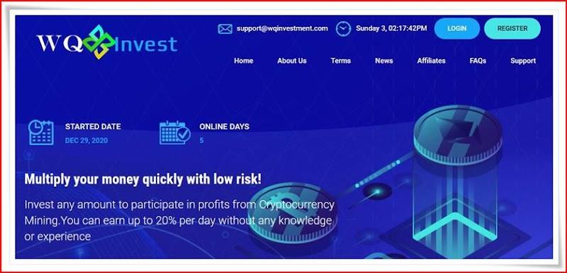 Мошеннический сайт wqinvestment.com – Отзывы, развод, платит или лохотрон? Мошенники
