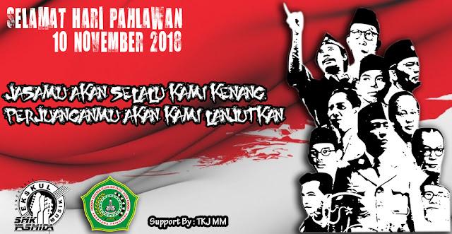 Desain Ucapan Selamat Hari Pahlawan SMK Yasmida Ambarawa