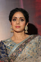 Sri Devi in designer saree stunning beauty at the launch of MOM movie Trailer~  Exclusive 070.JPG