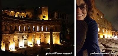 Forum Traiano, visita noturna, guia brasileira em Roma