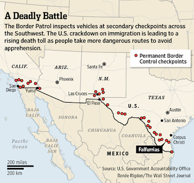 Map Of Border Patrol Checkpoints | www.picturesso.com