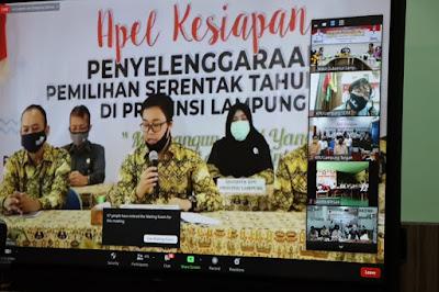 Wakil Gubernur Lampung Hadiri Apel Akbar Kesiapan Penyelenggaraan Pilkada Serentak Tahun 2020