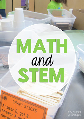 STEM Challenge: Students earn their materials by completing a set of math problems. Get the answer correct and you get more items!