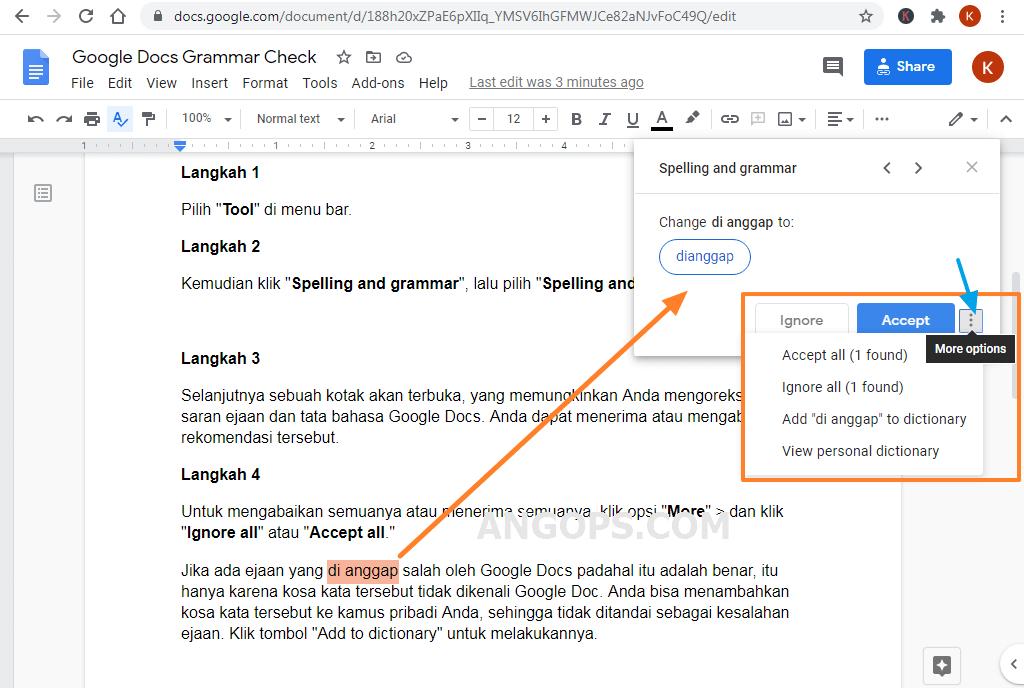 google docs dan grammarly
