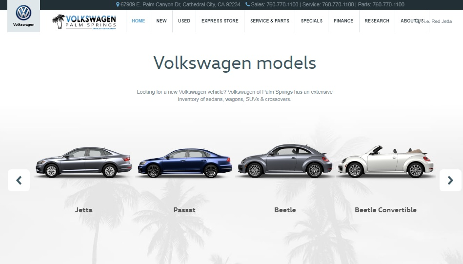 Review Volkswagen of Palm Springs
