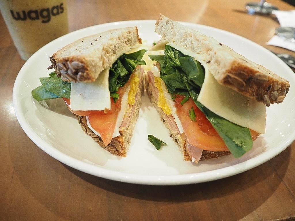Sandwich at Wagas Shanghai