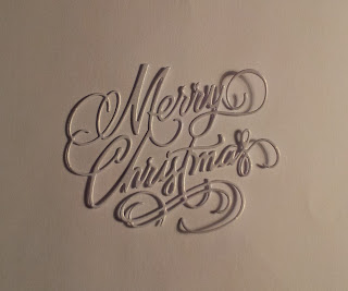 Merry Christmas die cut sentiment in white