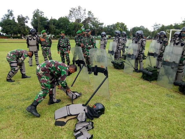 Jelang Pilkada Serentak, Yonif 511/DY Laksanakan Apel Gelar Pasukan
