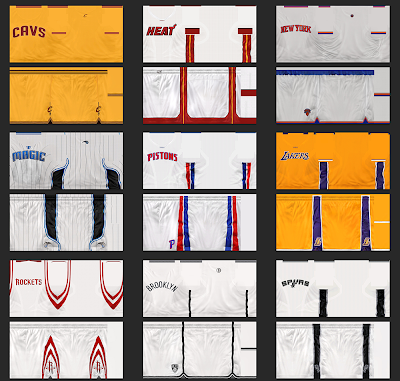 NBA 2K14 Realistic Jersey Textures Mod Pack