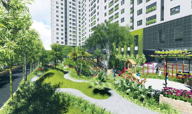 Khuôn viên chung cư ICID Complex